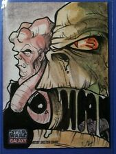 "Star Wars Galaxy 7 color sketch card Michael ""Locoduck"" Duron"