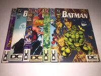 DCU DC UNIVERSE Logo Variant Lot Of 7 ~ Batman, Detective Comics, Justice League