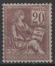 """FRANCE STAMP TIMBRE N° 113 """" TYPE MOUCHON 20c BRUN-LILAS """" NEUF xx LUXE M561"""