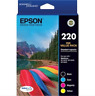 2 x Genuine Epson 220 4-ink Value Packs For WF-2630/WF-2650/WF-2660/XP-420