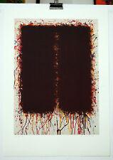 Bernd Berner Flächenraum handsigniertes Künstlerexemplar Lithographie
