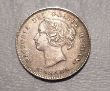 CANADA  VICTORIA COIN 5 CENTS 1874 AU
