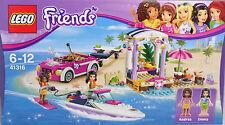 Lego Friends 41316 lancha rápida-transporter Andrea Emma coche remolque barco nuevo
