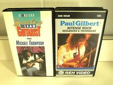 Paul Gilbert Reh Video Intense Rock & Michael Thompson Scales Vhs Tapes