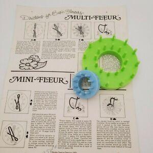 Set of 2 Vintage Bucilla/Studio Twelve flower looms, medium and small