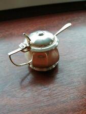 Sterling silver mustard pot