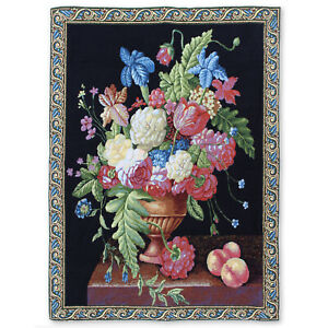 "Majestic Bouquet Art Wall Hanging Vintage Tapestry 27""x38"""