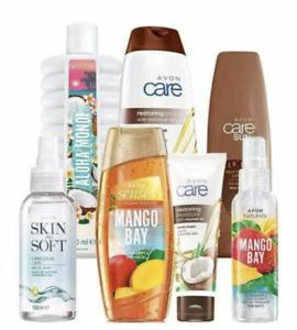 Avon Summer Scents 7 Item Bundle Pamper Pack RRP £19.50 inc Skin so soft Dry Oil