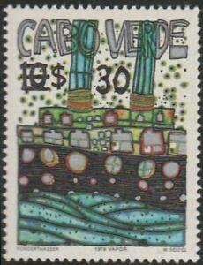 Kap Verde 496 postfrisch, Hundertwasser, Vapor 1985