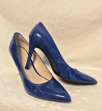 NEW NINE WEST Sky Blue Patent Leather Classic Pumps Shoes, 8