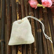 "100 PCS 2""x3"" Mini Cotton Muslin Drawstring Reusable Bags Bath Soap Herbs Tea"