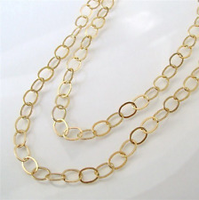 52 Inch 14k Gold Filled 8.8x6.6mm Oval Chain Necklace