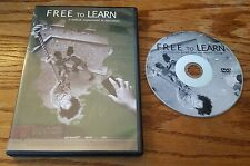 Free To Learn (DVD) Bhawin Suchak Jeff Root documentary film Free School NY RARE