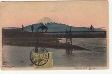 Japan: Postcard, 'Mount Fuji': Fukuoka-Rio redirected Torino/Fiesole, 18 Ap 1911
