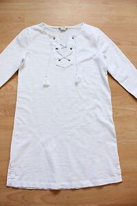 BODEN white cotton cross tie tunic  size 8   WO039