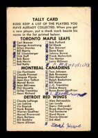 1962 Parkhurst #101 Tally Game Card  G X1502511