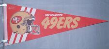 "San Francisco 49ers NFL Vintage Circa 1980's Team Logo Football 29"" Pennant"