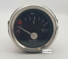 "52 DIA 2"" CHROME DIAL 0 - 7 BAR OIL PRESSURE GUAGE METER FUEL TANK METER @ UK"