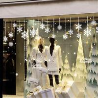 Christmas White Snowflake Snow Frozen Window Decal Wall Sticker PVC Art Decor