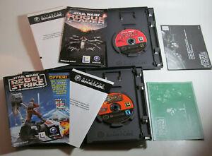 Star Wars: Rogue Leader Squadron II & Rebel Strike (Nintendo GameCube, 2001) CIB