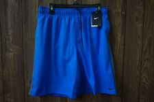 Nike Men's New Blue Gray Volley Shorts Mesh Inner Brief Lining Size  ~ $44.99