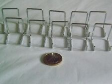 """10 Miniature Display Stands 1.5"""" 3.5cm tall + Medals/Watches/Miniatures.Chrome"""