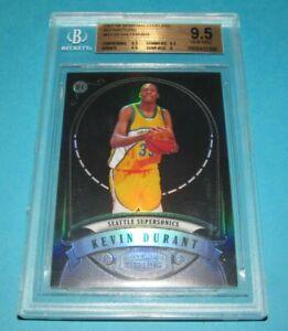 2007-08 Kevin Durant Bowman Sterling BLACK REFRACTOR- BGS 9.5 Gem Mint- #189/199