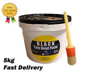 BLACK TYRE MOUNTING PASTE 5KG & FREE BRUSH  PREMIUM LUBE / SOAP TYRE CHANGER