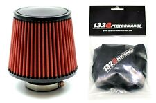 """1320 PERF FAB 3"""" Universal air filter cone reusable red with Pre-Filter"""