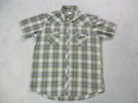 Wrangler Pearl Snap Shirt Adult Extra Large Brown White Rodeo Western Cowboy Men