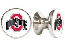 Ohio State Buckeyes NCAA Stainless Finish Cabinet Knob / Drawer Pull (One Knob)