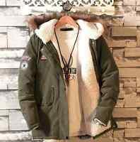 Herren Winter Faux-Pelzmäntel Jugend Große Größe Cotton Warm Outwear Loose