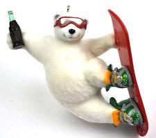 Coca-Cola Coke USA Pendentif Ornements d'arbre de noël Ornement Snowboard Ours