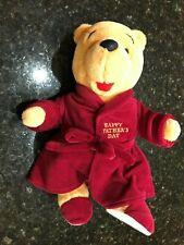 DISNEY HAPPY FATHER'S DAY BATHROBE WINNIE THE POOH BEAR SLIPPERS PLUSH