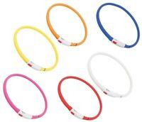 Trixie USB Flash Anneau Lumineux 70cm Collier Chien Hundeleuchtring Tous Tailles