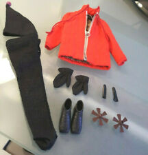 Vintage Barbie Ken Doll Ski Champion #798 Coat Gloves Hat Ski Grips Stops Lot