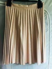 New Oasis Ladies Faux Leather Pleated Skirt UK 16