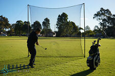 Heavy Duty Golf Impact Practice Net: 3m x 3m with Support Posts