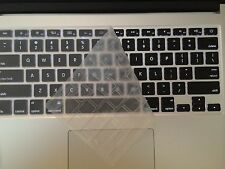 3 SILICONE MacBook Pro Keyboard Cover Color: CLEAR US MacBook iMac Mini Wireless