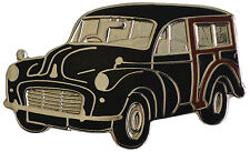 Morris Minor Traveller car cut out lapel pin - Black