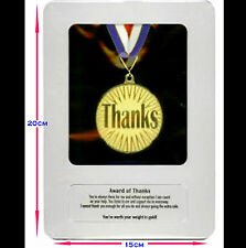 New in Bag Award of THANKS Gold Medal Framed in a Tin Case