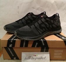 NIKE Flyknit Lunar 1 + Supreme Nero Sz US 8 UK 7 HTM 623823-001 BOX Logo 2013
