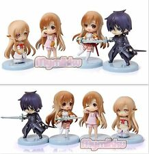 Sword Art Online Anime Manga MINI Figuren 4er Set H:5-6.5cm Neu