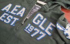 New American Eagle AE Men's Fleece Hoodie Half Zip Hooded Sweatshirt Green XS