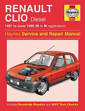 RENAULT CLIO DIESEL 91 - 96 Haynes manuel de réparation et service