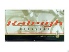 "Vintage Raleigh Bikes, In-Store Vinyl Advertising Bicycle Banner 30"" x 59"""