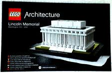 Lego Architecture Bauanleitung für Lincoln Memorial 21022 Neu