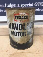 TEXACO Havoline Motor Oil  One Quart Full Can