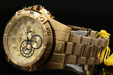 NEW Invicta Men's 53MM Speedway VIPER 18 K Gold Plated Chrono S.S Bracelet Watch
