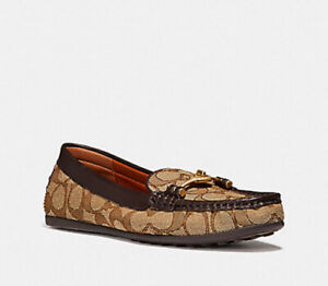 ❤️NIB COACH TURNLOCK GREENWICH DRIVER FG1887 Loafers 8.5 casual shoes runner